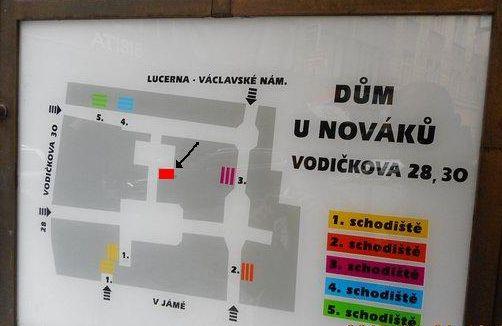 plán pasáže U Nováků